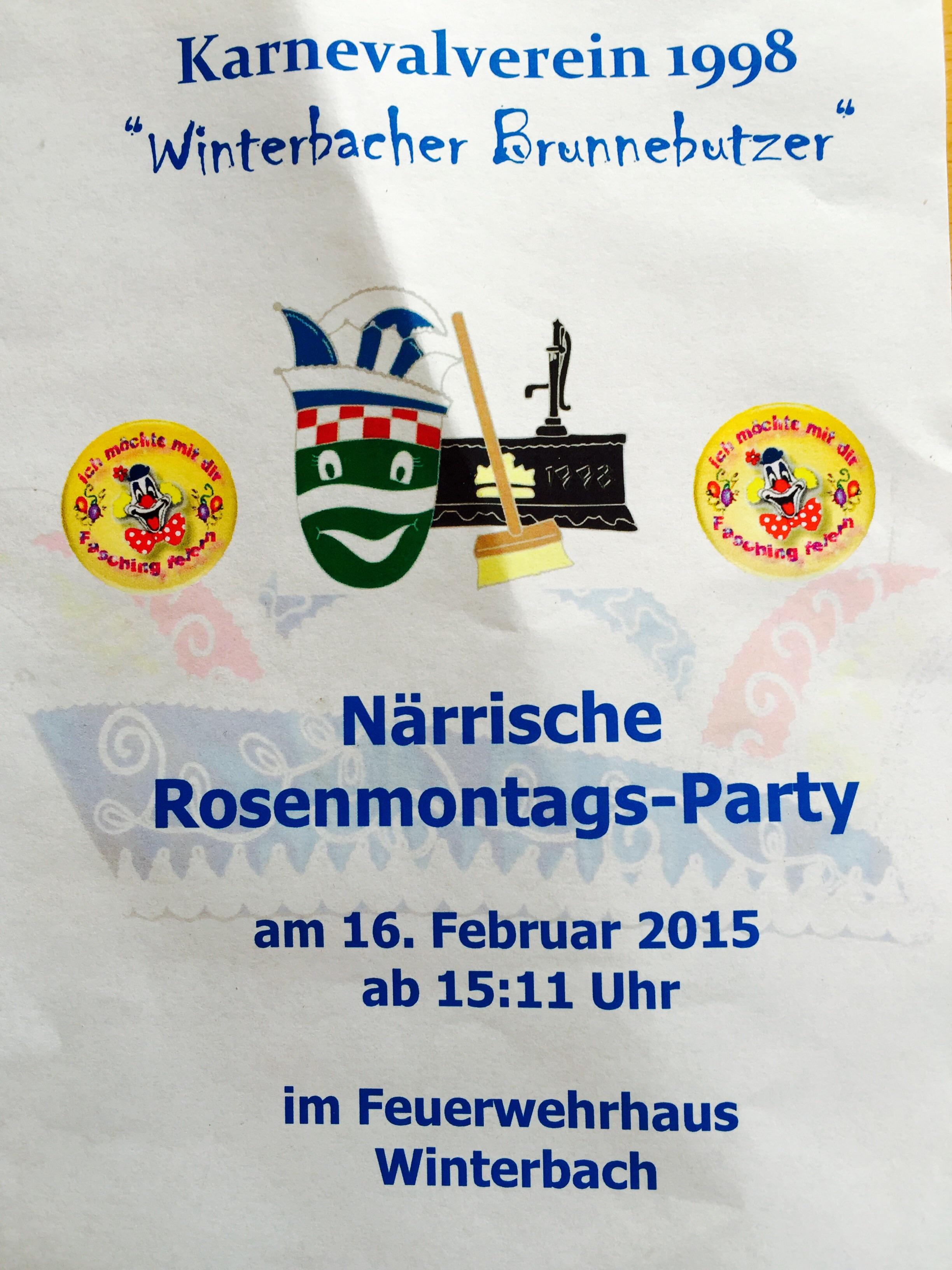 Rosenmontagsparty 2015