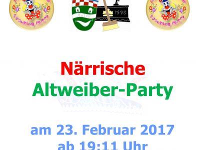 Närrische Altweiber-Party