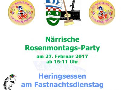 Rosenmontags-Party & Heringsessen