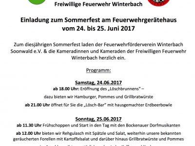 Sommerfest der Feuerwehr 2017